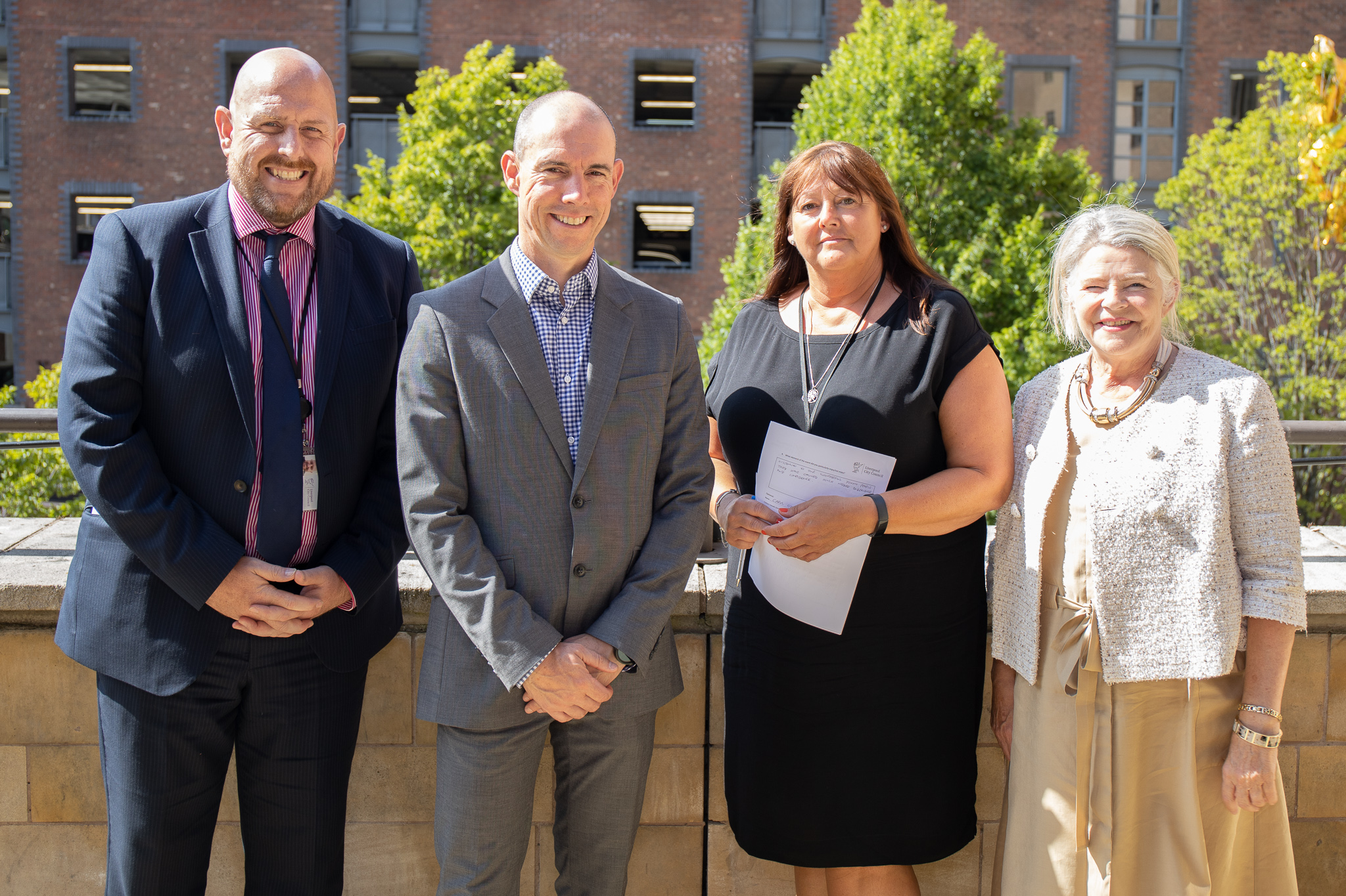 Steve Reddy, Director of Children and Young People's Services, Martin Wilby, Supported Employment Officer, Lynn Newton, Independent Travel Training Team Manager and Cabinet Member for Education, Employment and Skills, Barbara Murray. All from Liverpool City Council.