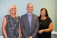 Lin Boyd, CE3 Enterprises, Martin Wilby, Supported Employment Officer and Lynn Newton, Independent Travel Training. All happy after another successful graduation for our amazing young people.