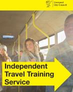 Independent Travel Training logo in shape of yellow arrow