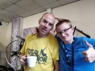 two of our volunteers enjoying a tea break