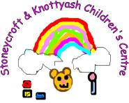 Stoneycroft and Knotty Ash Childrens Centre logo - a childs drawing of rainbow and toys