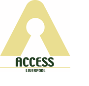 Access Liverpool Logo, Keyhole in a triangle.