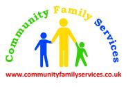 Company logo depicting the outline of 3 children holding hands under the company name in an arch.