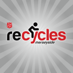 Recycles Merseyside's logo plus Salvation Army shield
