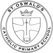 St. Oswald's Primary School badge showing school name.