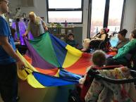 During our time at Croxteth we do lots of activities like parachute play