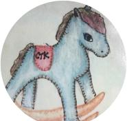 CTK Playgroup logo, picture of a toy rocking horse