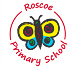Roscoe Primary logo with butterfly