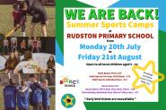 Summer Sports Camp - Mon 20th July-21st August