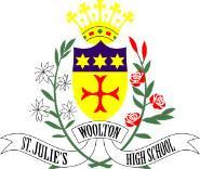 St Julie's School Logo.