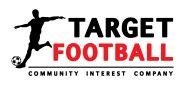 Football Player kicking a ball, Target football logo