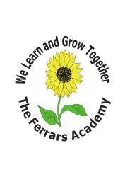 Ferrars Academy logo, a sunflower with the words