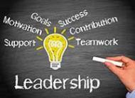 chalkboard with leadership written