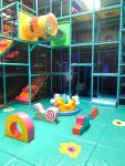 Lots of climbs and places to explore in the new gated toddler area