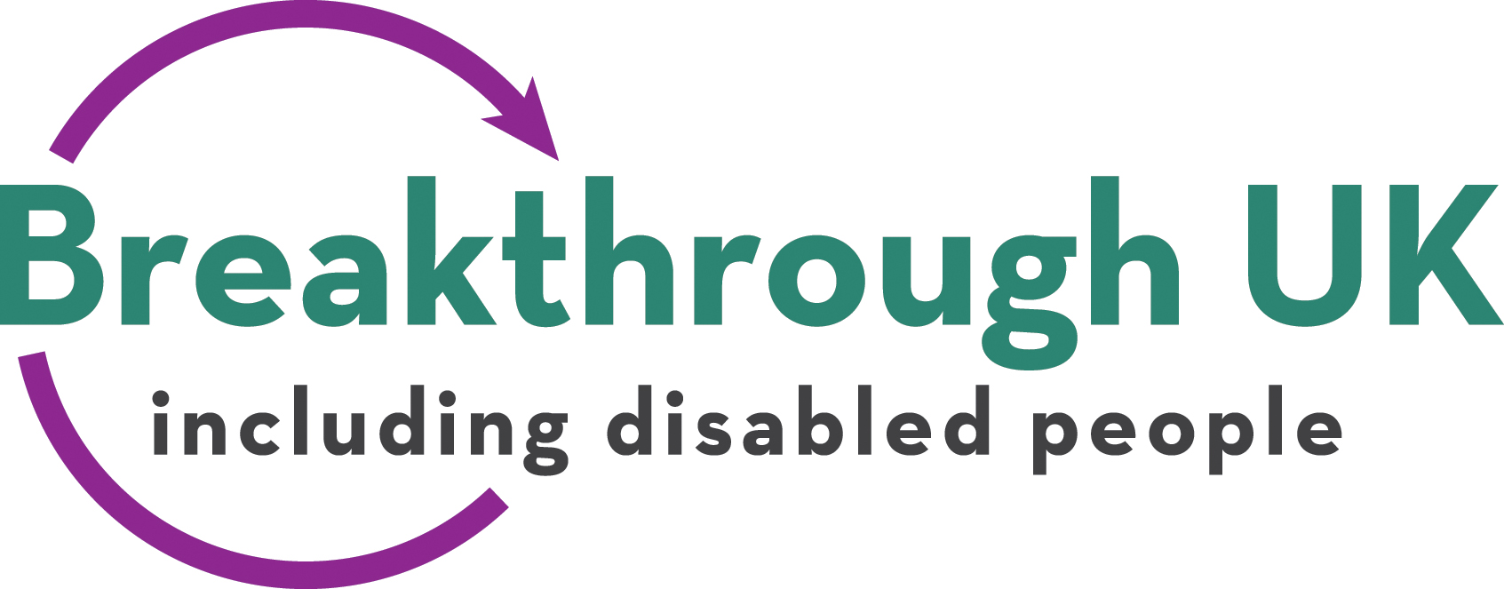 Breakthrough UK Logo - Breakthrough including disabled people
