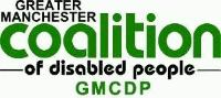 Greater Manchester Coalition of Disabled People Logo Green Print on White Background