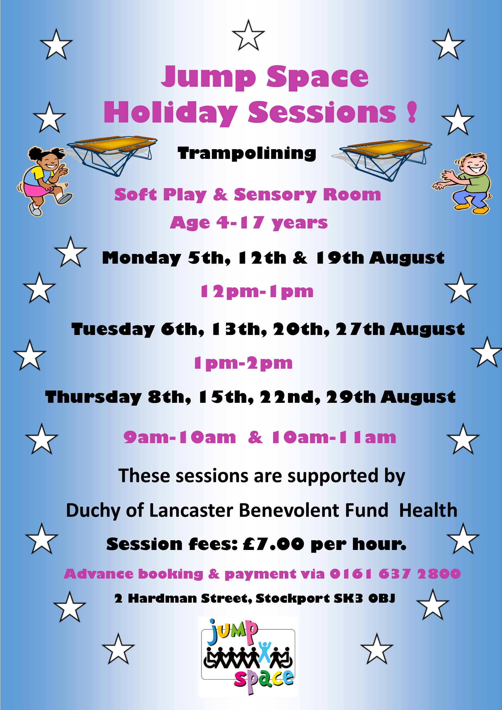 Jum Space Holiday Sessions