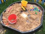 Fun in the sandpit outside
