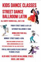 Kids ballroom and kids street dance classes Wimbledon