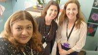Picture of  Shazia, Rachael Wardell(Director of Children, Schools and Familes Merton) and Fran