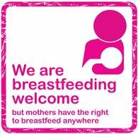We are breastfeeding welcome logo