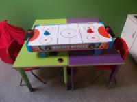 Air hockey for older children
