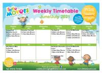 New timetable from Monday 7th June.