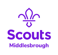 Middlesbrough Scouts Logo Stacked Purple