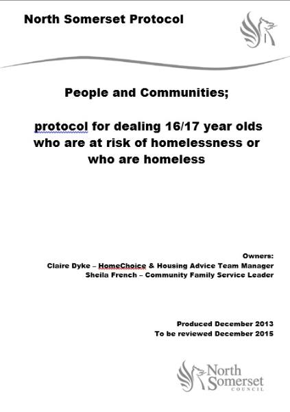 16-17 Year Olds at Risk of Homelessness or Who are Homeless December 2013 - December 2015