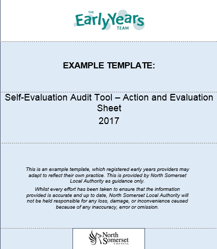 Self Evaluation Audit Tool – Action and Evaluation Sheet | North ...
