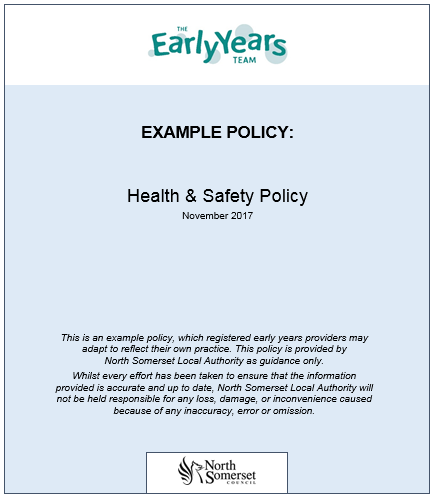 Health and Safety Policy | North Somerset Online Directory