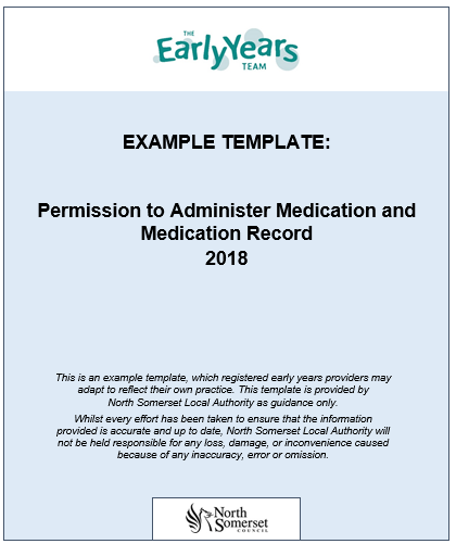 Permission To Administer Medication And Medication Record North