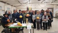 Nailsea Shedders Pumpkin Competition: I hear locally sourced Pumpkins ran dry, so some cheeky Shedder tried to sneak a Lemon in. Well that trick didn't get by our own version of Gandalf!