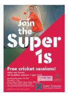 WSM Super 1's Cricket Sessions