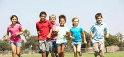 image of children running outside