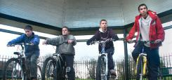 Image of young people on bicycles