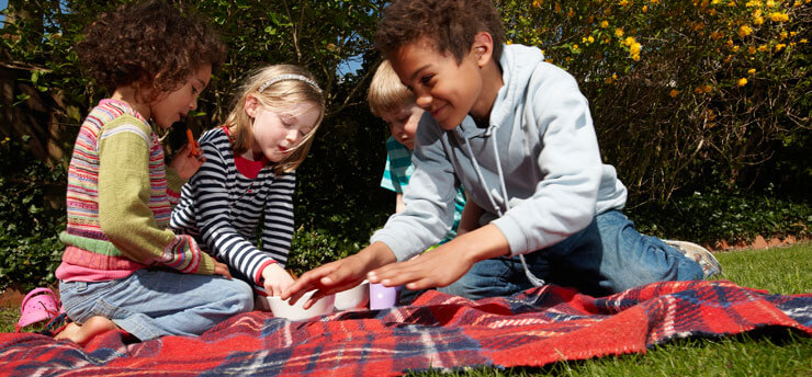 image of group of children on a picnic