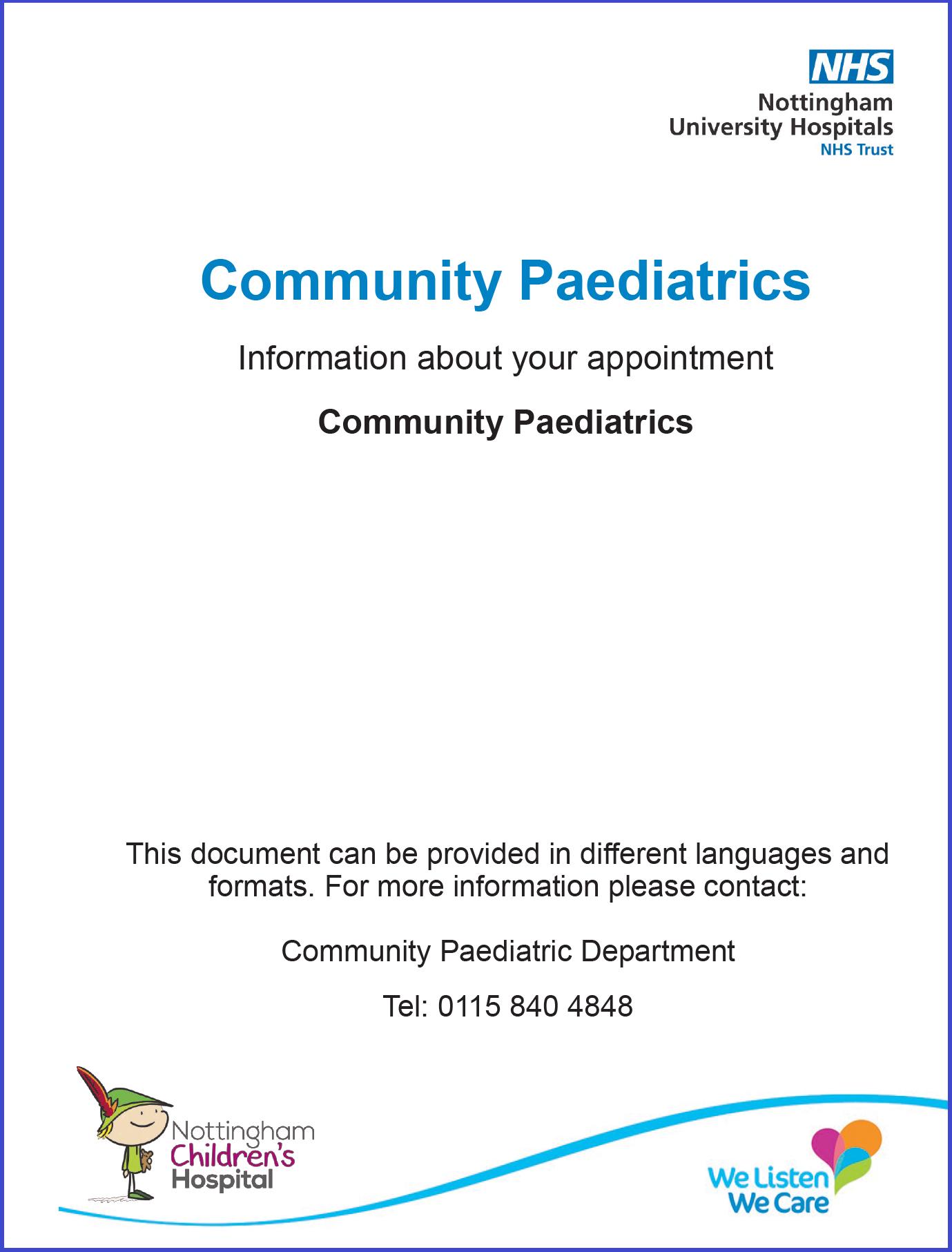 Community Paediatrics Leaflet