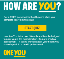 NHS - One You How are you?