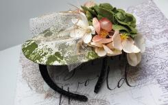 Product made by one of our ladies from our Millinery class.