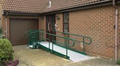 Modular Rapid Ramp to a house