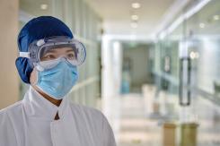 Man wearing PPE