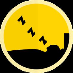 Clipart of man sleeping