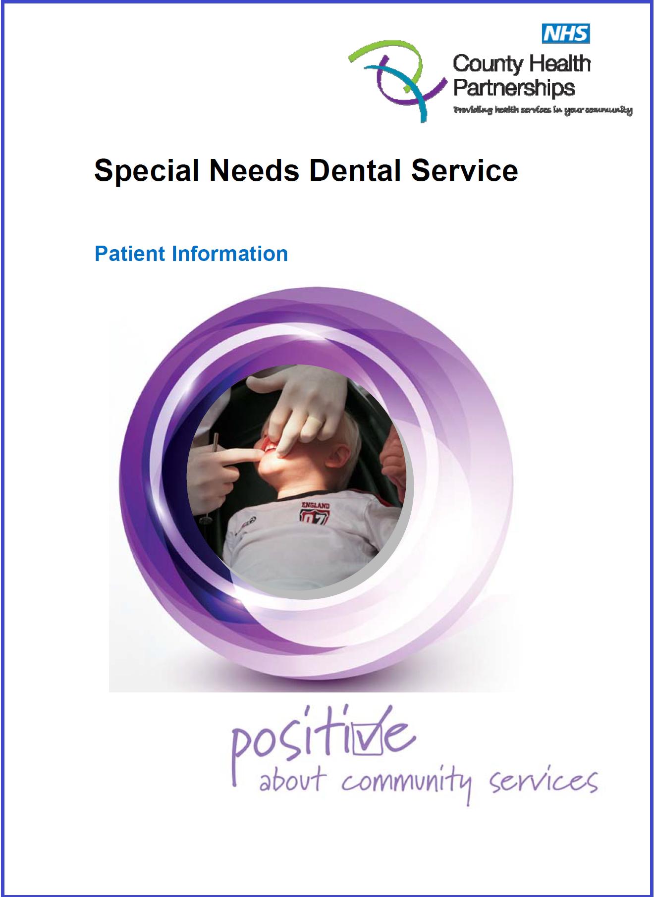 Special Needs Dental Service Leaflet