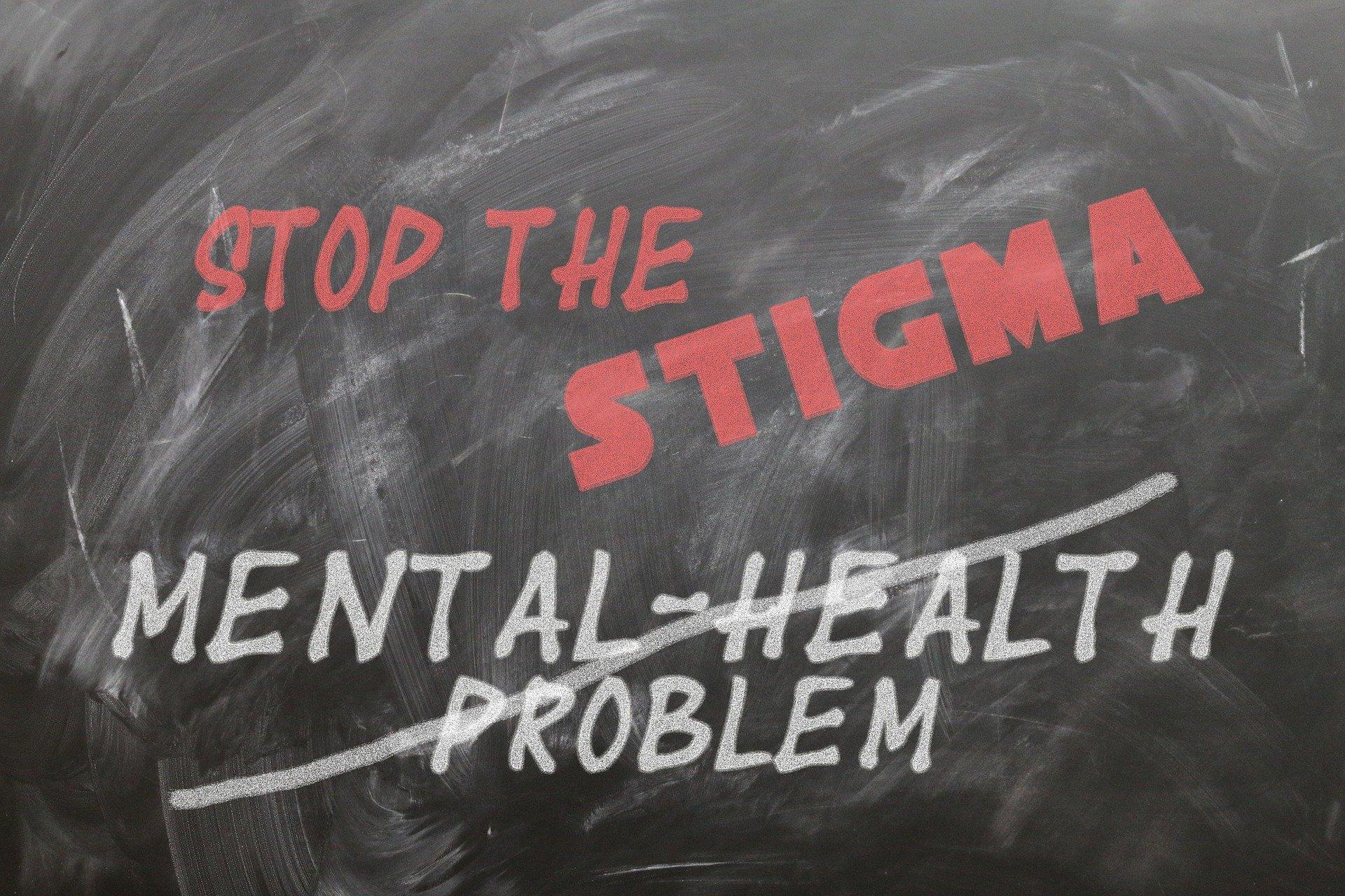 image of blackboard with stop the stigma writing
