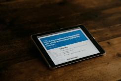 Tablet with coronavirus guidance