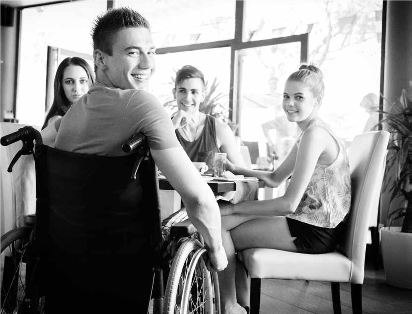 image of group of disabled young people