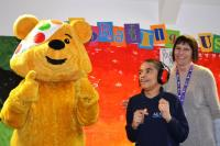 Pudsey visits Sutherland house school, Nottingham, November 2017