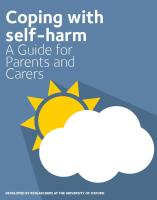 Coping with self-harm A Guide for Parents and Carers