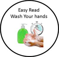 Easy Read Stop Wash Your hands